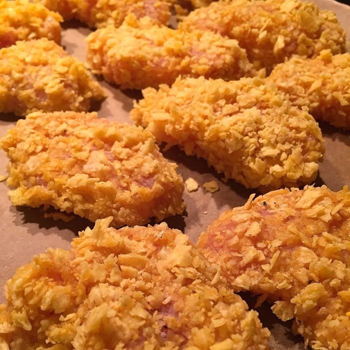 Crispy-chicken-mit-Erdäpfelwedges-und-Remoulade-3
